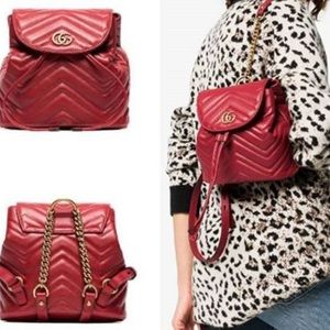Beautiful GG Marmont  chevron-quilted leather bag